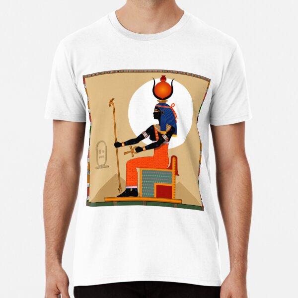 Religion of Ancient Egypt. Goddess Nut. Premium T-Shirt
