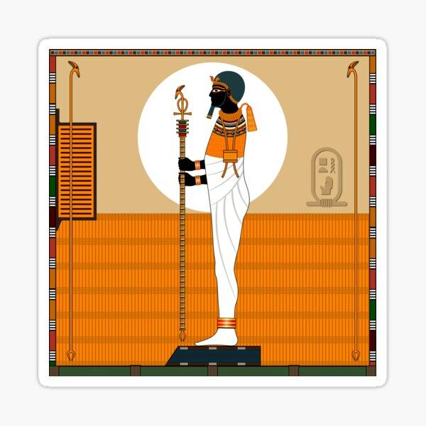 Religion of Ancient Egypt. God Ptah. Sticker