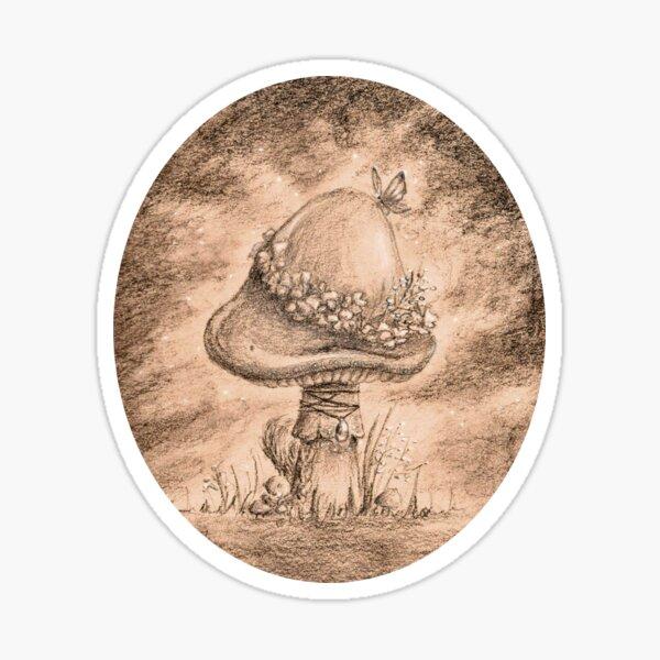 Fairy Mushroom (Gold Sticker) Sticker