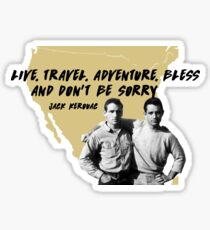 On the Road - Jack Kerouac Sticker