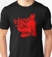 Camiseta unisex Jabalí negro