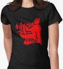 Camiseta entallada Jabalí negro