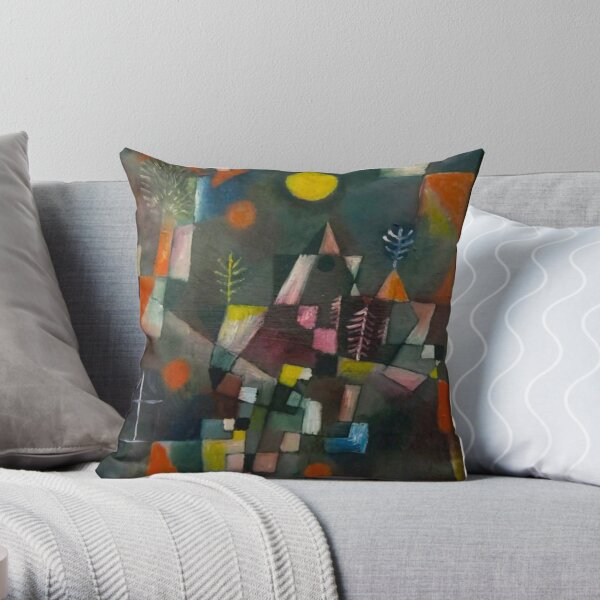 Paul Klee Full Moon Throw Pillow