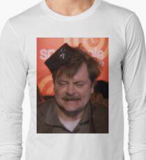 Ron Swanson Dancing Long Sleeve T-Shirt