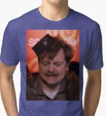 Ron Swanson Dancing Tri-blend T-Shirt