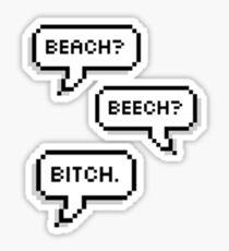 """BTS - V & Jimin """"Beach? Beech? B*tch.""""  Sticker"""