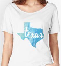 Texas - light blue watercolor Women's Relaxed Fit T-Shirt