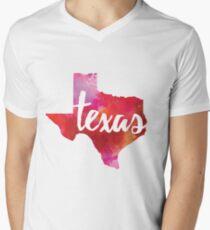 Texas - watercolor Men's V-Neck T-Shirt