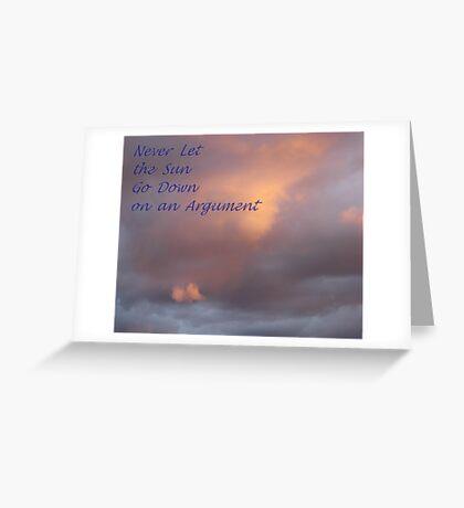 Sunset Sentiment Greeting Card