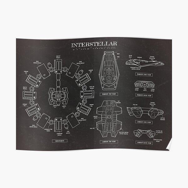 Interstellar (Black Version) Poster