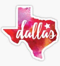Dallas, Texas - watercolor Sticker