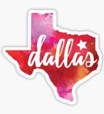 Dallas, Texas - watercolor Sticker