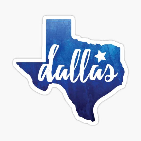 Dallas, Texas - blue watercolor Sticker