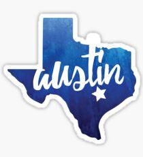 Austin, Texas - blue watercolor Sticker