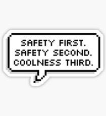 "BTS - Jungkook ""Safety first. Safety second. Coolness third."" Sticker"