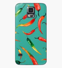 - Chilli pattern (turquoise) - Case/Skin for Samsung Galaxy
