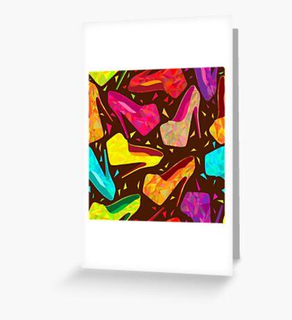 - Kaleidoscope shoes pattern - Greeting Card