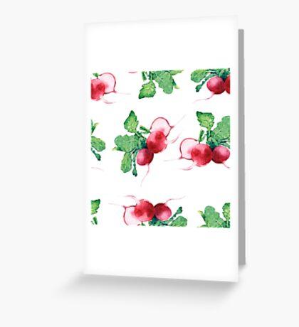 - Radish pattern (white) - Greeting Card