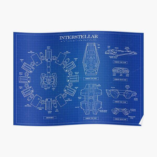 Interstellar Blueprint Poster