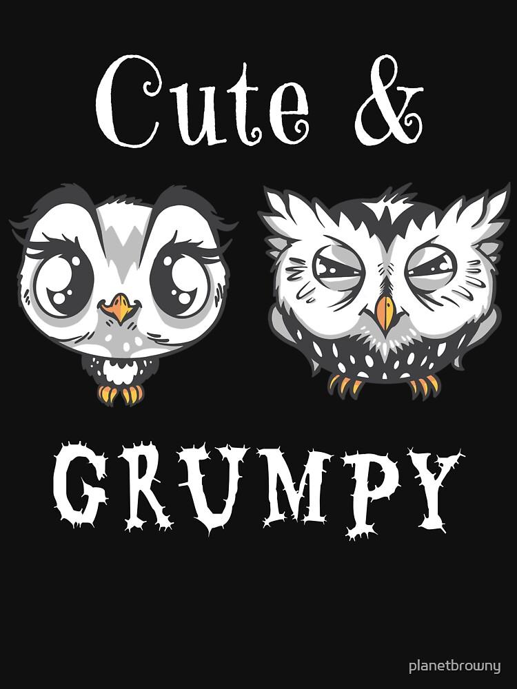 Cute and grumpy Owls von planetbrowny