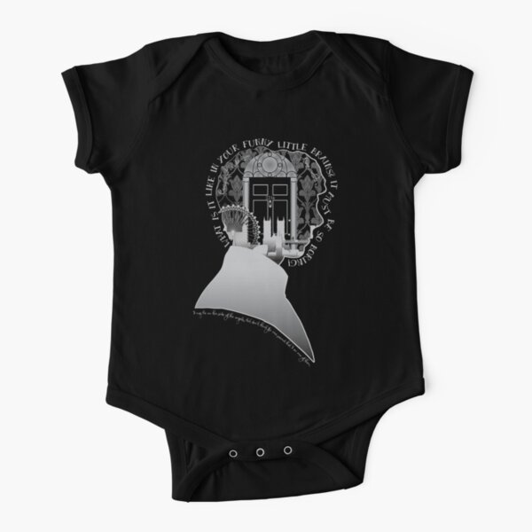 What is it Like in Your Funny Little Brains? Short Sleeve Baby One-Piece