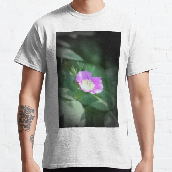 Old fashioned pink rose, near Trojan pond, Oregon Classic T-Shirt