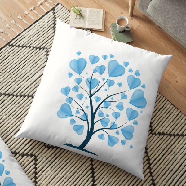 tree shaped like hearts Floor Pillow