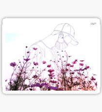 Namjoon Lineart - Flowers Sticker
