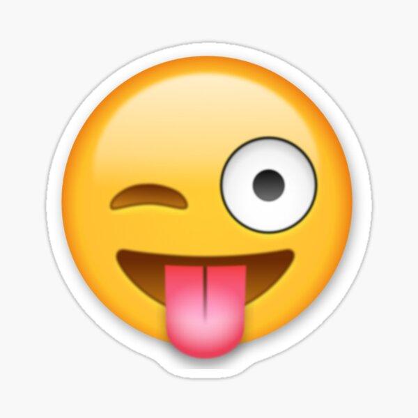 Lengua Emoji Pegatina