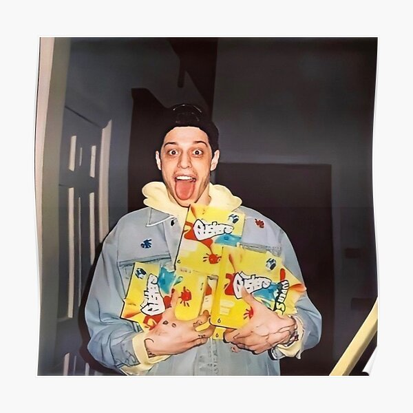 Pete Davidson Holding Gushers Packages Poster