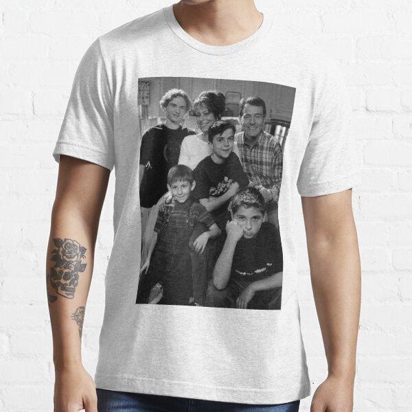 Malcolm dans la photo en noir et blanc du milieu T-shirt essentiel
