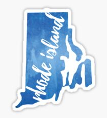 Rhode Island - blue watercolor Sticker