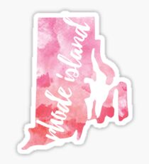 Rhode Island - Pink watercolor Sticker