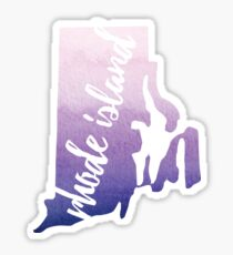 Rhode Island - purple Sticker