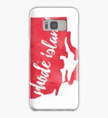 Rhode Island - Red Watercolor Samsung Galaxy Case/Skin
