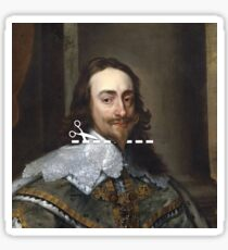 Cut Here - Charles I Sticker
