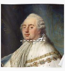 Cut Here - Louis XVI Poster