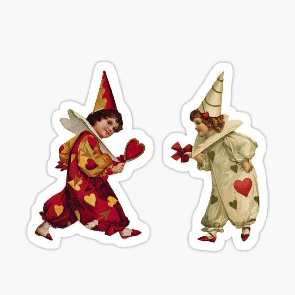 Valentine Jesters Sticker