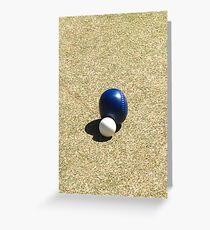 lawn bowls Greeting Card