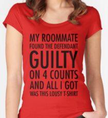 New Girl - Guilty shirt Women's Fitted Scoop T-Shirt