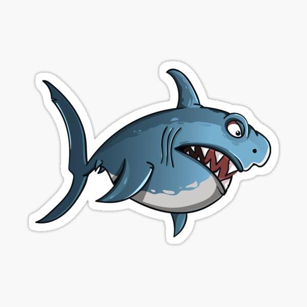 Blue Shark Sticker