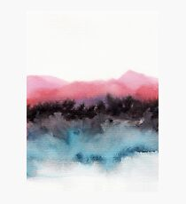 Watercolor abstract landscape 10 Photographic Print