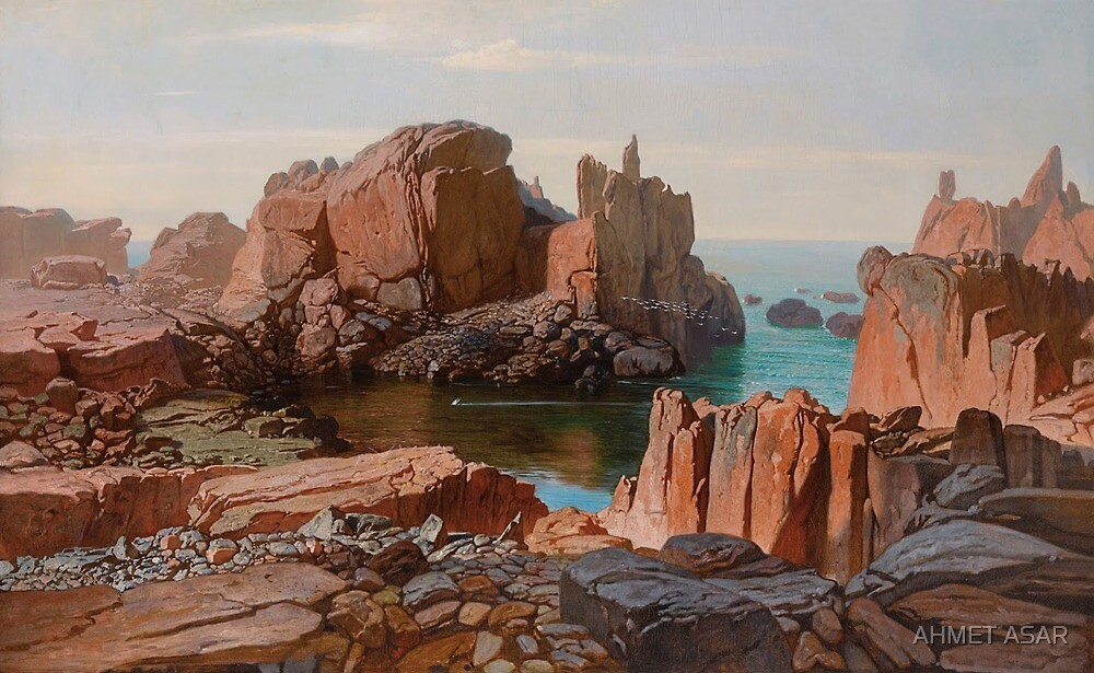 Octave Penguilly-L'Haridon - Rocks of the Grand Peacock, Isle of Bréhat by MotionAge Media