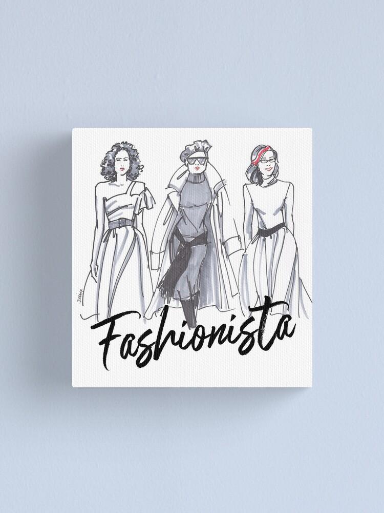 Alternate view of Sassy Fashionistas Canvas Print