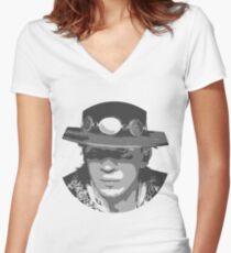 Stevie-Ray Vaughan Women's Fitted V-Neck T-Shirt