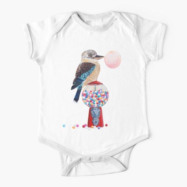Bird gumball machine Kookaburra Short Sleeve Baby One-Piece