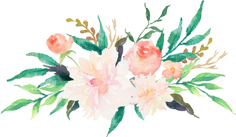 Quot Watercolor Flowers Summer Pastel Quot Stickers By