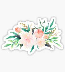 Watercolor Flowers Summer Pastel  Sticker