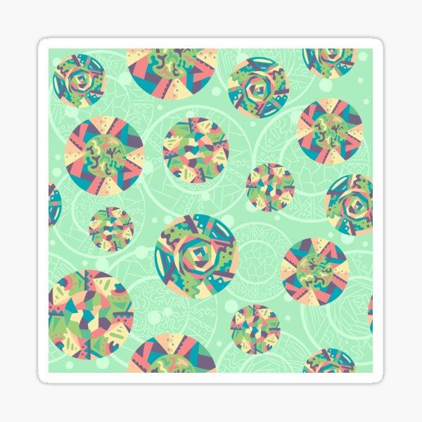 African motif plates - green Sticker