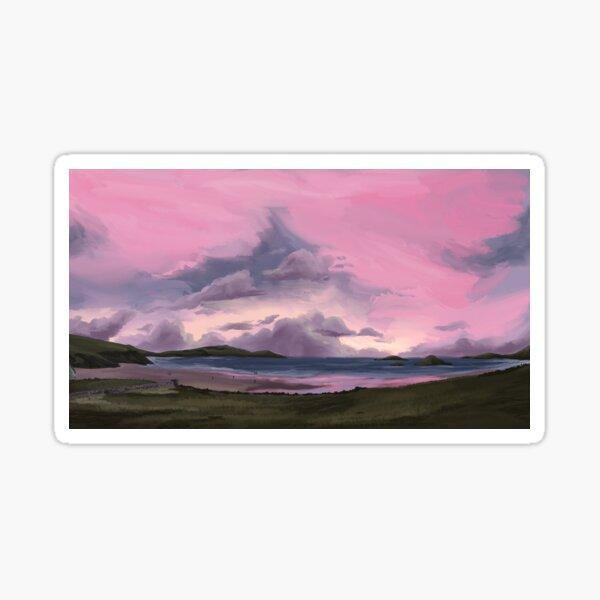 Sunset in St. Davids Sticker